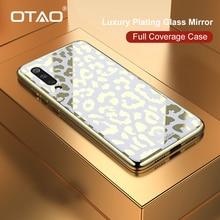 OTAO New Plating Glass Leopard Print Case For Xiaomi Mi 8 Lite 9 SE Soft TPU Edge Case For Xiaomi 8 Explorer Hard PC Cover Coque
