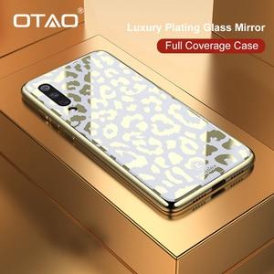 Image 1 - OTAO nouveau étui en verre imprimé léopard pour Xiao mi mi 8 Lite 9 SE étui souple en TPU pour Coque rigide Xiao mi 8 Explorer