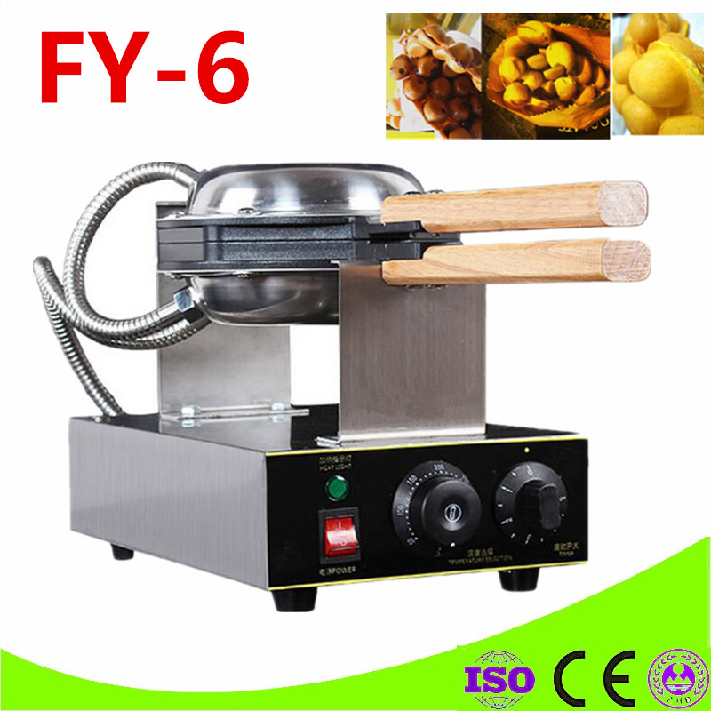 Hong Kong QQ Eggettes Waffle Maker 1500W Electric Waffle Machine Egg Maker Stainless Steel 0-5 Min Timing Max 300 Degree