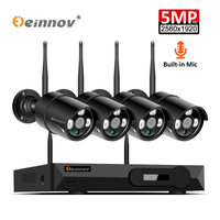 Einnov 4CH H.265 Security Camera System Wireless CCTV 5MP Wifi IP Video Surveillance NVR Kit HD Night Vision P2P Outdoor Home