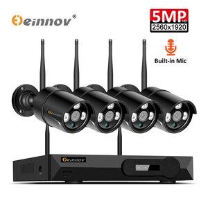 Image 1 - Einnov 8CH 5MP беспроводная камера безопасности CCTV система наружного видеонаблюдения 8CH Wi fi NVR комплект HD ночного видения P2P водонепроницаемый