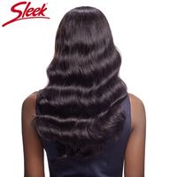 Sleek Lace Front Hair Wig for Black Women Brazilian Body Wave Hair 100% Remy Human Hair Wigs 1B Natural Hairline