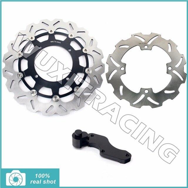 Motorcycle Oversize 320MM Front Rear Brake Disc Rotor Bracket Adaptor for SUZUKI RMZ 250 450 05-15 06 07 08 09 11 RMX 450 10-12