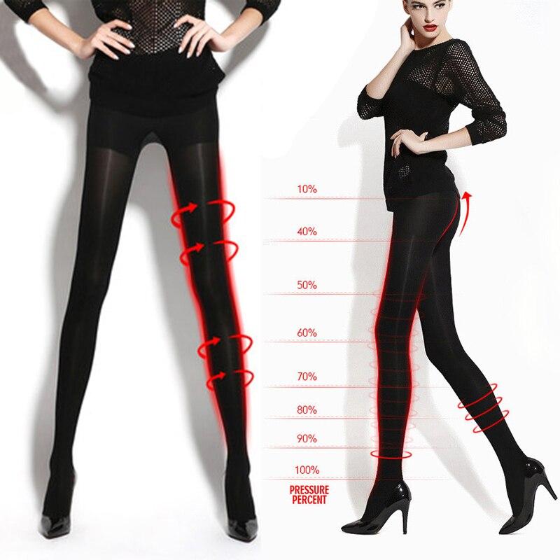 2016 Primavera Donna Sexy Collant Neri Fare Gamba Più Sottile Skinny Collant A Compressione Nuovo Arrivo Calze Collant Collant Plus Size
