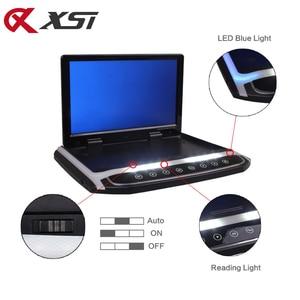 Image 4 - Xst 17.3 Polegada montagem no telhado do carro monitor flip down tft lcd player com hd 1080p vídeo usb fm hdmi sd botão de toque teto mp5 jogador