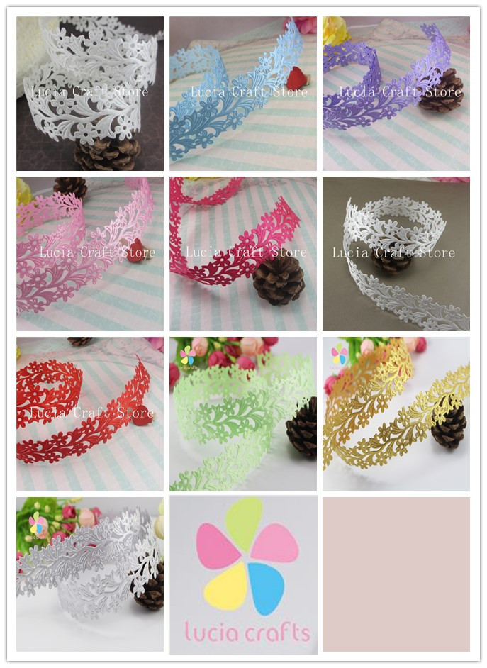 Approx 35mm flower ribbon sewing craft lace trim for Craft ribbons and trims