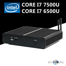 [Intel Core i7 7500U] Eglobal Newest Kaby Lake Fanless Micro Computer Mini PC Win10 Linux HD Graphics 620 4K HTPC TV Box miniPC(China)