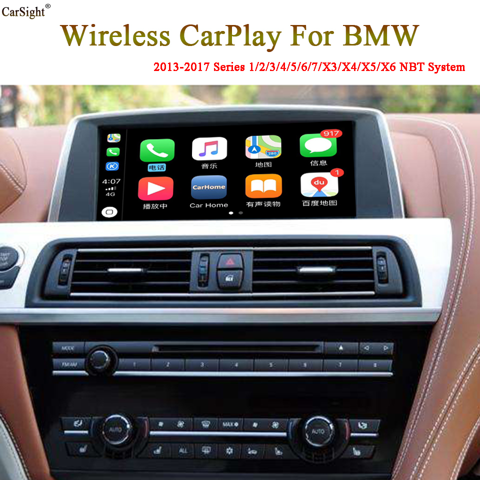 Latest Support IOS13 iPhone Wireless CarPlay for BMW NBT Vehicle Full Screen WiFi Connected Android Auto Screen Mirroring
