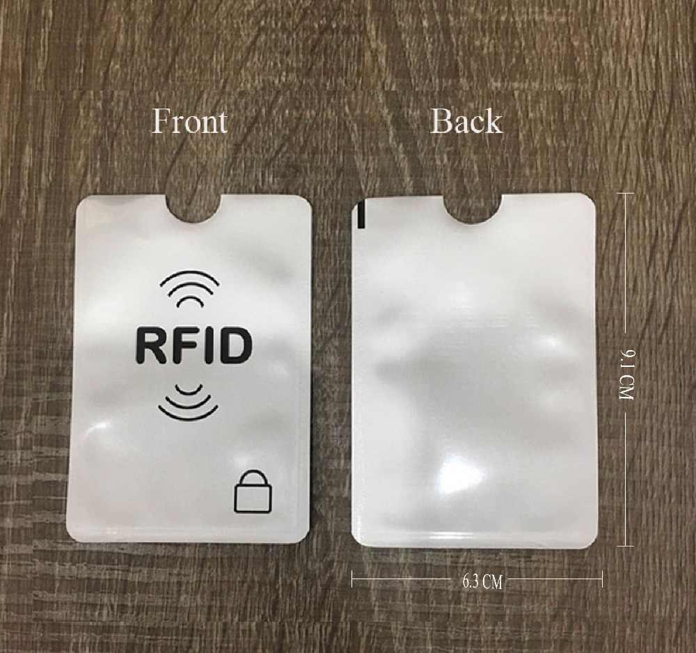 6 stücke Anti Rfid Sperrung Reader Sperren Bank Karte Halter ID Karte Fall Rfid Schutz Aluminium Folie Kreditkarte Halter