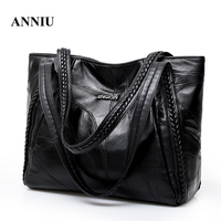 2018 New Arrival Women S Sheepskin Soft Leather Shoulder Bag Lady Famous Brand Casual Tote Big