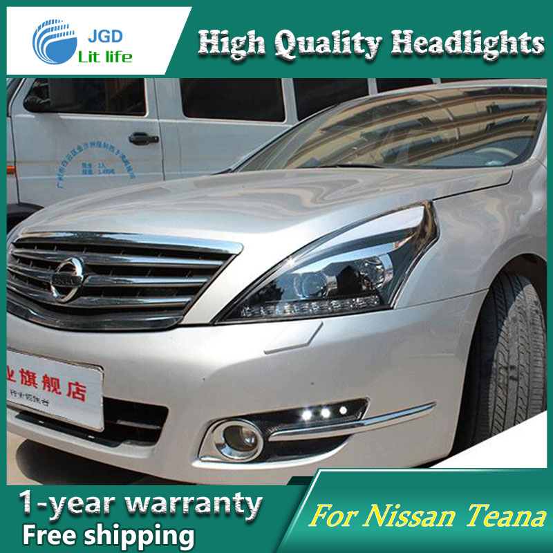 Auto Clud Style LED Head Lamp for Nissan Teana 2008-2012 led headlights signal led drl hid Bi-Xenon Lens low beam auto part style led head lamp for nissan x trail led 14 15 headlights for x trail drl h7 hid bi xenon lens angel eye low beam