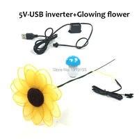 Multi Function Glowing EL Wire Sunflower As Novelty Lighting Lovely Blinking Neon Flower Present For Kids