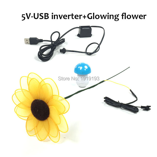Multi Function Glowing EL wire Sunflower as Novelty Lighting Lovely ...
