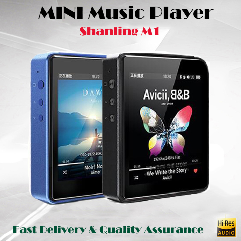 Shanling M1 HIFI MP3 Bluetooth del Giocatore di Musica Equilibrata Flac Lettore DSD DAP Mini Hi-res Lossless Giocatore di Sport Mp3 32 GB con il caso