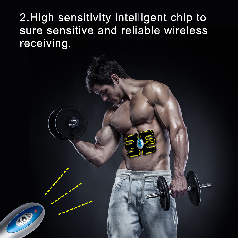 New Wireless Multi-Function EMS abdominal training Device Hous abdominal muscles intensive training Loss Slimming Massager