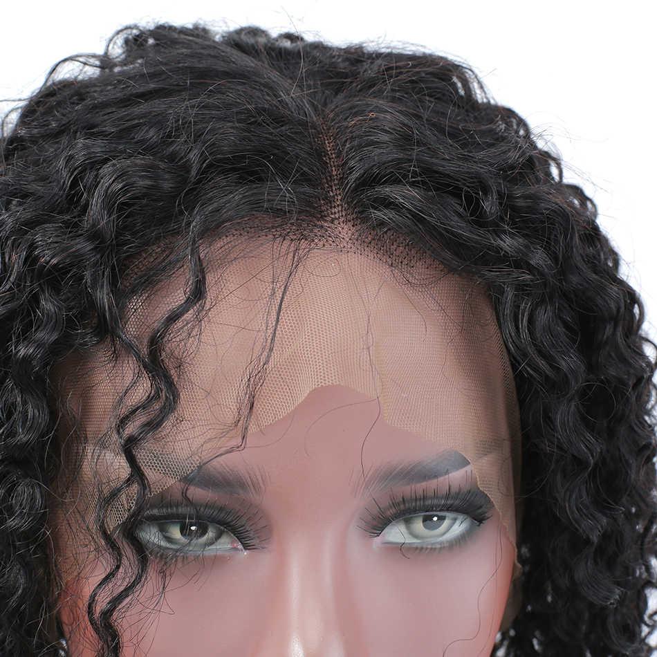 Wigirl волосы афро кудрявые волосы короткие человеческие волосы парики натуральные цветные волосы для наращивания парики фронта шнурка Боб Короткие парики для черных женщин