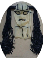 100% Nature Latex Mask Sexy Hood Latex Rubber Costumes Head Wear With Latex Hair Back Zip
