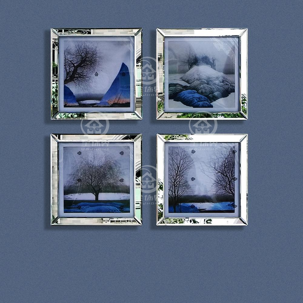 Mode wand gespiegelt rahmen moderne kombination foto rahmen wandbild ...