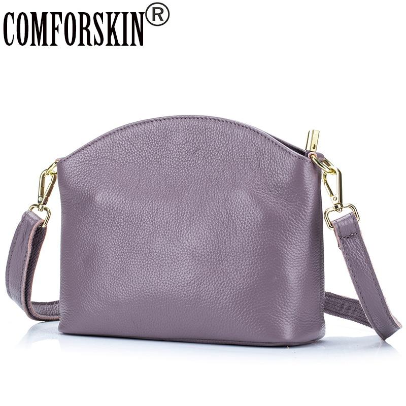 COMFORSKIN Brand Women Leather Bags Bolsas Feminina 2019 Guarantee 100 Genuine Leather Fashion Soft Premium Style