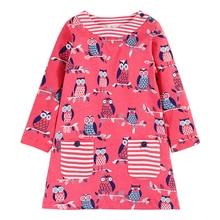 Flower Baby Girl Dress 2017 Brand Kids Dresses for Girls Clothes Jersey Clothing 100% Cotton Children Princess Dress Christmas