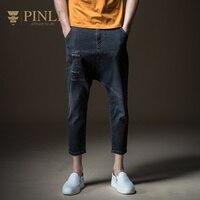 2019 Mid Jeans Men Top Rushed Slim Pinli Summer New Men's Clothes Haren Repair Little Feet Cowboy Nine Pants Male B182416494