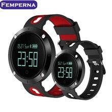 Femperna Montre Smart Watch DM58 Podomètre Moniteur de Fréquence Cardiaque Wirstband Sang Pression Entraînement de Fitness Tracker Sport Hommes Smartwatch