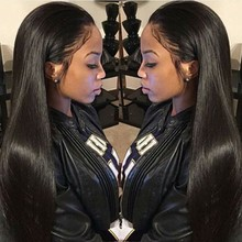 Brazilian Full Lace Human Hair Wigs For Black Women Silky Straight Front Lace Wig With Baby Hair Glueless Full Lace Wigs Cheap