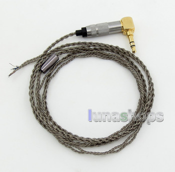 LN005867 Semi-Finished Soft OCC Silver Plated Earphone Repair DIY Brown Cable 3.5mm L Plug
