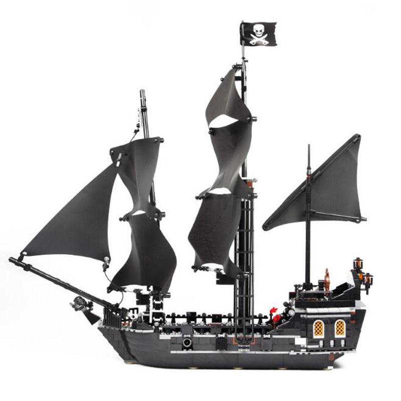 16006 804pcs Pirate Ship building bricks Pirates of the Caribbean the Black Pearl Ship model Toys Compatible 4184 oyuncak