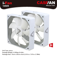 ALSEYE Computer Case Fan 120mm (2 pieces/lot) DC 12V White Silent Fan 1500RPM 64CFM High Air Flow 3pin Fan for Computer