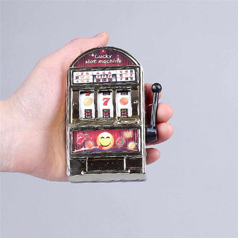 1pc Lucky Jackpot Mini Slot Machine Antistress Educational Toys for Children Games Birthday Gifts Kids Safe Machine Bank Replica