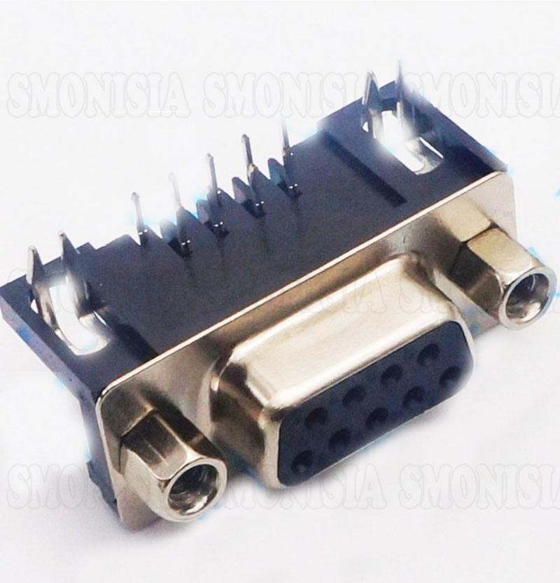 DB9 Female Socket DR9 RS232 Elbow Pin 9P 90 Degree Serial Ports Female Plug
