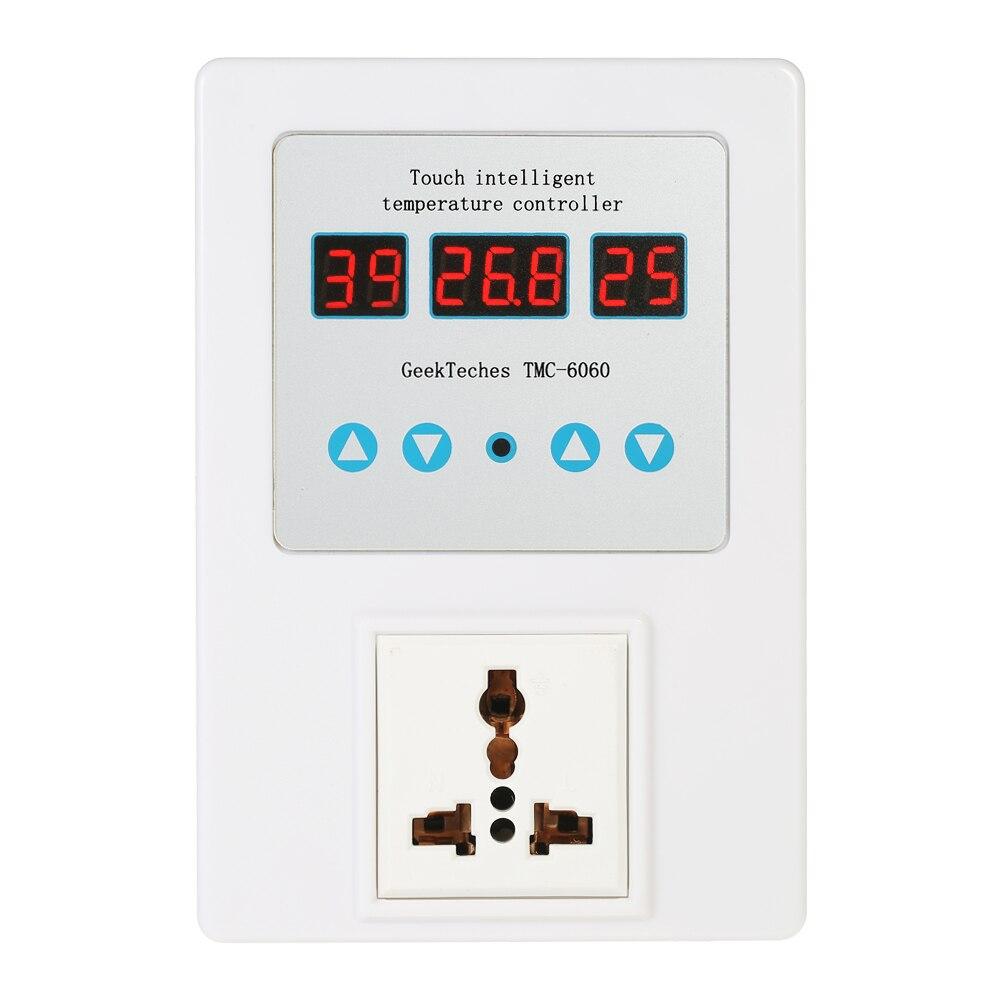 цена на Digital LED Thermostat Temperature Controller Electrical Sockets Water Temperature Controller Waterproof Probe NTC Sensor US/EU