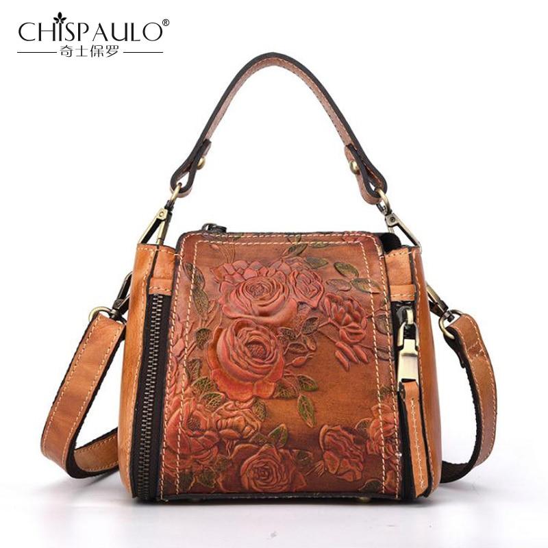 CHISPAULO 2019 Fashion Brand Genuine leather Women Bag Desig