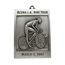 Custom bike Event antiqud silver Medallion cheap custom metal old silver 3D medals