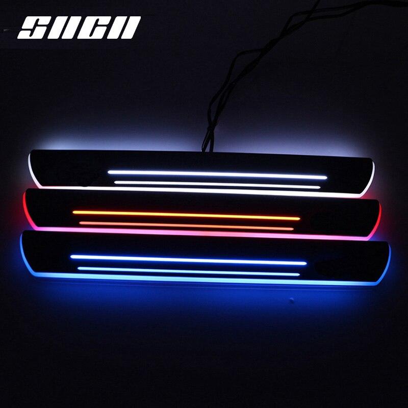 4 шт., светодиодный светильник для педали автомобиля, Накладка на порог, тропинка, динамический стример, добро пожаловать, лампа для Citroen DS5 2013