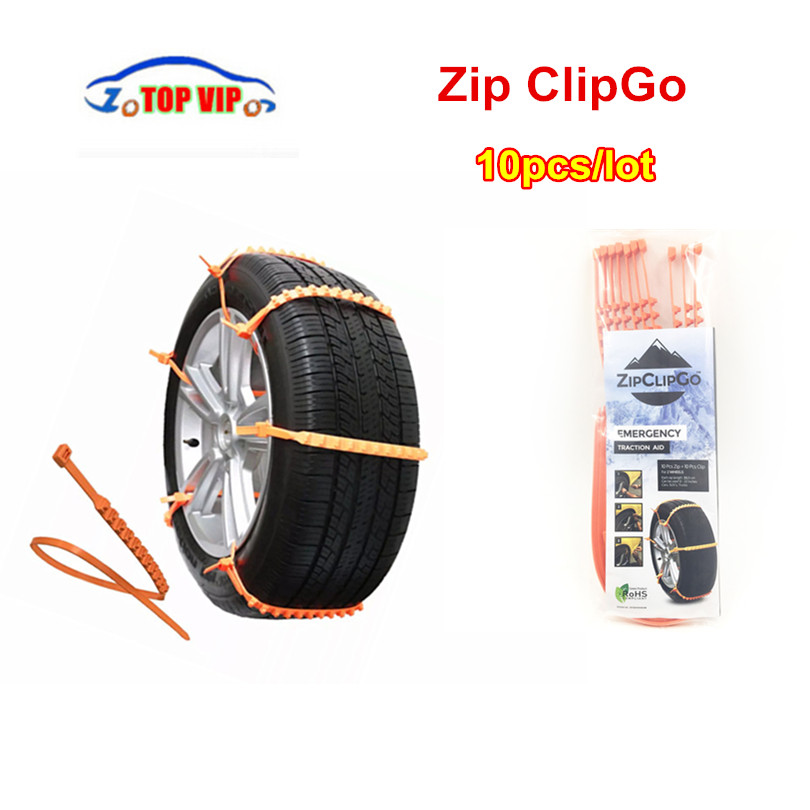 10pcs/lot DHL Free Hot Sell New Zip ClipGo Life Saver For Car Stuck In Mud Snow Or Ice Emergency Traction Aid Emergency Traction