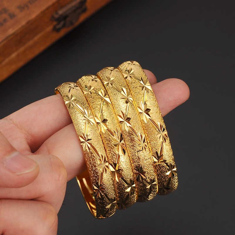 4 Có Thể Mở Vàng Lắc Tay Nữ Vàng Dubai Cưới Cô Dâu Ethiopia Vòng Tay Phi Lắc Tay Ả Rập Trang Sức Charm Vàng vòng Tay