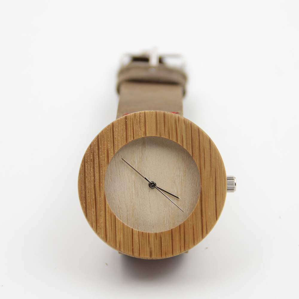 New arrival japanese miyota 2035 movement wristwatches genuine leather bamboo wooden watches for men and women