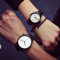 Simple Style Lovers' Watch Leather Men Women Watch Miler Brand Fashion Student Quartz watch Relogio Masculino Lover's Gift
