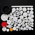 81 видов Пластиковых Передач Мешок DIY Технология Модель Решений Зубчатой рейки и Шестерни Коробки Передач 0.5 Модуль