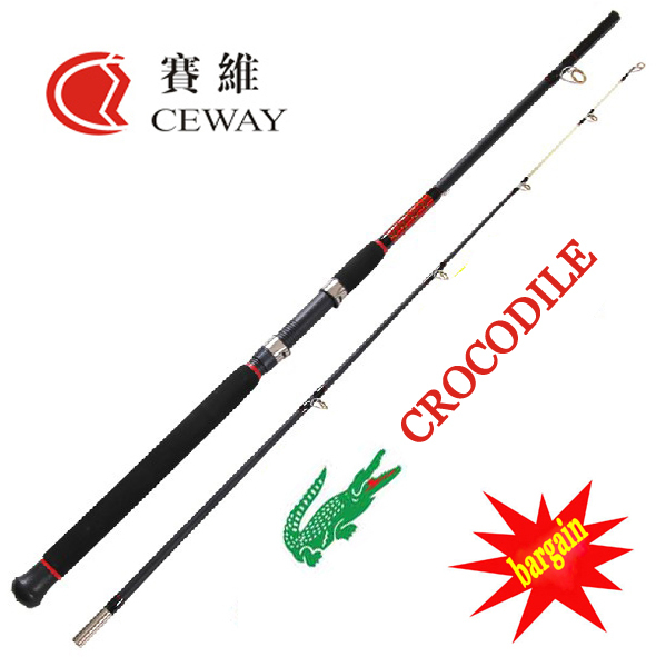 Carbon fishing rods ceway crocodile boat rod fish ocean for Fishing rod price