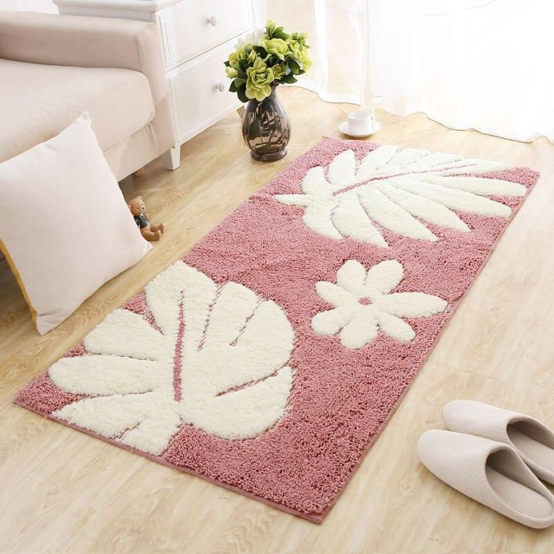 70X140 CM pastorale Floral chambre tapis rose feuilles tapis entrée/couloir paillasson balcon/vestiaire zone tapis enfants tapis de jeu