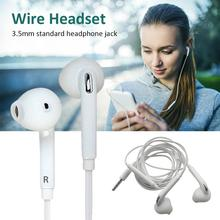 3.5mm Jack Headset Earphone Mic&Remote Volume Control For Samsung Galaxy S7 S6 Edge S5 S4 Note 5 4 3