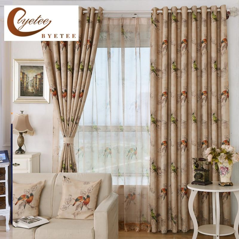 {byetee} Тъкани за завеси за прозорци за - Домашен текстил