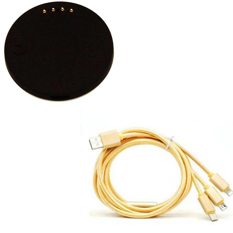 imágenes para Finow x5 x5plus q3 q3plus lem5 smart watch muelle de carga y de Carga USB Cable Cargador de Datos USB para Smartwatch o Smartphones