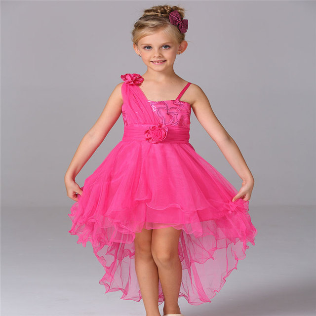 f97cfc3125 New arrival Flower Girl Dresses For Party Evening Dress Girls harness  trailing Dress 8096-TW