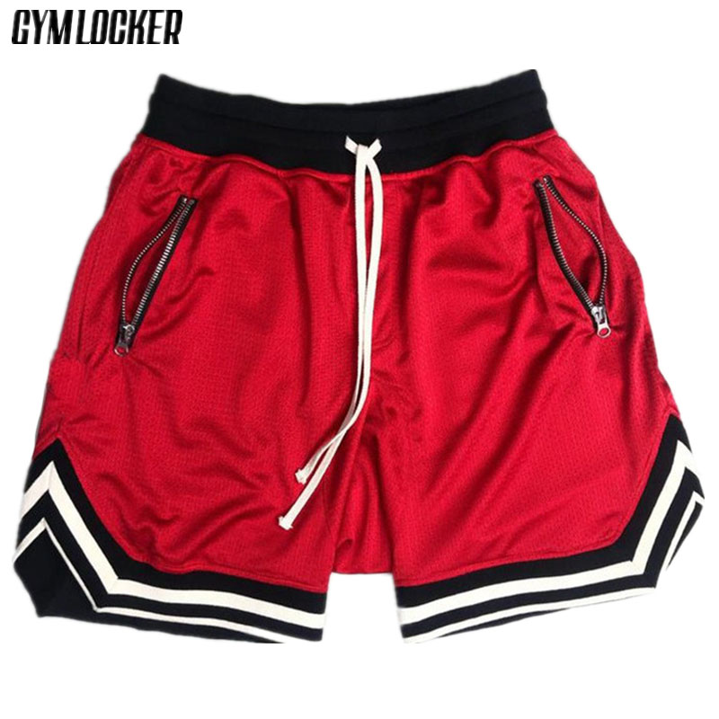 GYMLOCKER Summer Solid Color Mesh Compression Quick-drying Shorts Men's Sweatpants Gyms Fitness Men Shorts Slim Fit Clothes