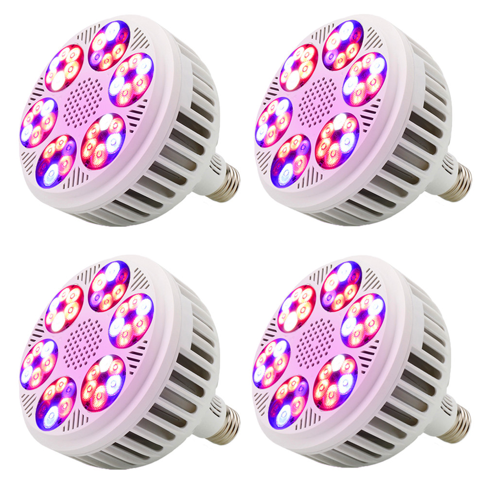 (4pcs/Lot) E27 LED Grow Light 120W Full Spectrum AC85V-265V For Hydroponics Seedling Flower Plant Vegetable Indoor Greenhouse