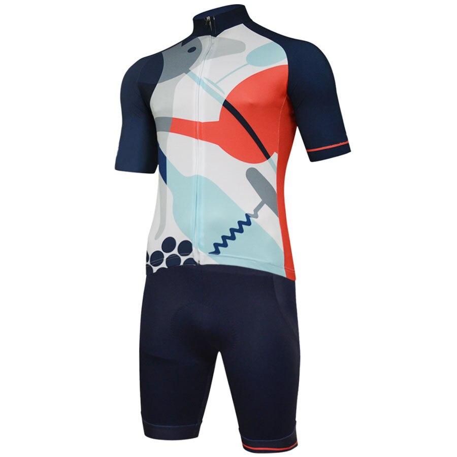 2018 New cycling jersey Summer Breathable men short ropa Ciclismo cycling clothing pro bib shorts gel pad bike wear jersey set